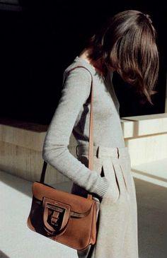 grey + brown #minimalist #fashion #style