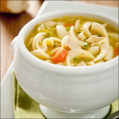 Homemade chicken noodle soup...cool weather favorite