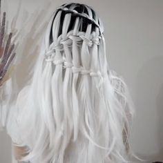 , Frisuren, For more braid video tutorials just visit our website! Castor Oil For Hair Growth, Hair Growth Oil, Braided Hairstyles, Cool Hairstyles, Braiding Your Own Hair, Winter Hairstyles, Hair Videos, Hair Designs, Hair Hacks