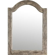 Featuring an arched design and silver-finished frame, this wall mirror brings elegant appeal to your entryway or master suite.  Prod...