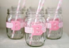 Cute Mason Jars for Baby Shower