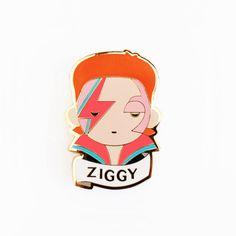 ZIGGY Pin Brooch David Bowie by SketchInc on Etsy