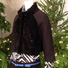 Faux fur and animal print #AnnHoliday