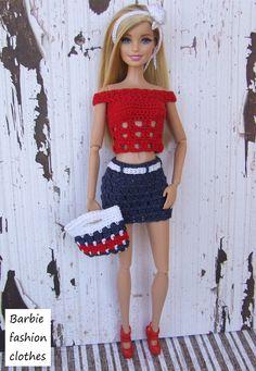 Barbie Crochet - Patriotic Fashion