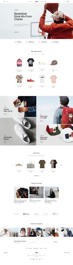 Cain | Clean & Minimal Ecommerce PSD Template #minimal #psd #shop • Download ➝ https://themeforest.net/item/cain-clean-minimal-ecommerce-psd-template/20060807?ref=pxcr