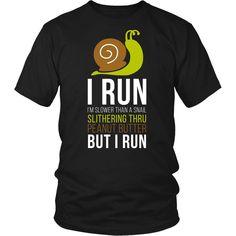 [product_style]-Running T Shirt - I run I'm slower than a snail slithering thru peanut butter but I run-Teelime Disney Marathon, Hobbies For Men, Shirt Shop, T Shirt, Love To Shop, Funny Design, Funny Tshirts, Peanut Butter, Fashion Outfits