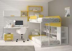 Kids Touch 59 Litera y escritorio Juvenil Literas y cama tren Habitación con Litera y escritorio de Muebles Ros