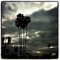 Clouds moving in on El Sereno