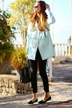 Marilyn's Closet - FASHION BLOG: Baby Blue Coat