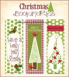 Free printable Christmas bookmarks. Download the PDF template at ...