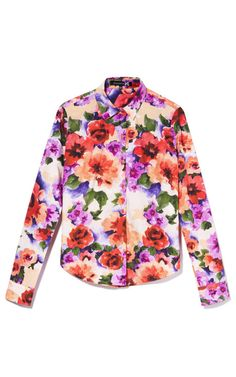 Flower Digital Print Long Sleeve Shirt by Patrícia Viera for Preorder on Moda Operandi