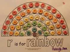 Sort by color and glue on by row, RAINBOW crafts for Kids. This has a cute shamrock/rainbow treasure hunts....