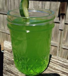Bourbon Shamrock - this green drink is perfect for St. Patrick's day. Cheers!