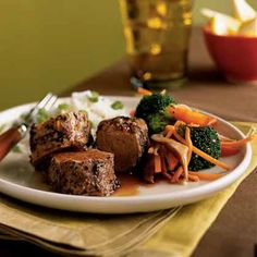 Peppercorn-Crusted Pork Tenderloin with Soy-Caramel Sauce | www.health.com