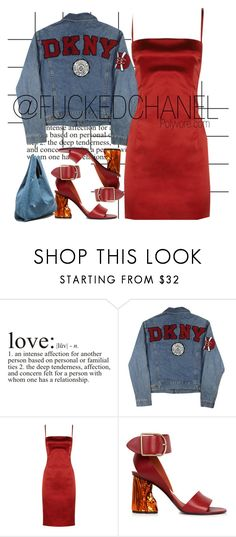 """""""Puzzle"""" by fuckedchanel ❤ liked on Polyvore featuring Forum, WALL, DKNY, D&G and Acne Studios"""
