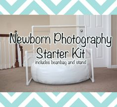 Newborn Photography Starter Kit: Includes Backdrop Stand and Baby Beanbag - Great for On-location Photographers or Simple Studio Set-Ups via Etsy