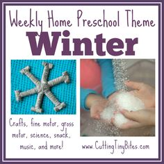 Winter Theme- Weekly Home Preschool.  Fine motor, gross motor, crafts, science, music, math, and more!