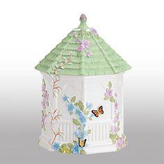 I really love this cookie jar!  Butterfly Meadow® Gazebo Cookie Jar by Lenox