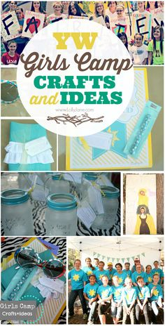 YW Girls Camp Crafts & Ideas via @Lauren Davison Davison Davison Davison Jane Jane {lollyjane.com} #girlscamp #YW