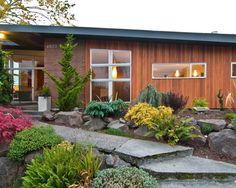 Landscape ideas that require little maintenance---no mowing!  Eichler Mid Century Modern Bathroom Remo Design, Pictures, Remodel, Decor and Ideas - page 43 https://emfurn.com/collections/mid-century-modern