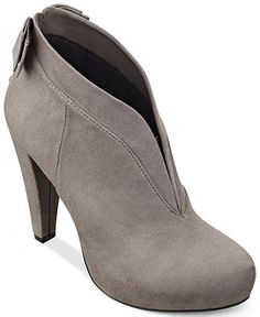 LOVE the sexy curved 'neckline'! G by Guess Women's Boots, Tarrah Shooties - Boots - Shoes - Macy's, only $79!!