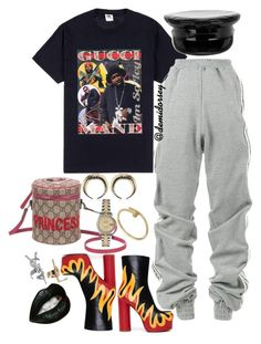 """""""Untitled #460"""" by thedemidorsey ❤ liked on Polyvore featuring Y/Project, Vetements, Manokhi, Givenchy, Gucci, Rolex and Yves Saint Laurent"""