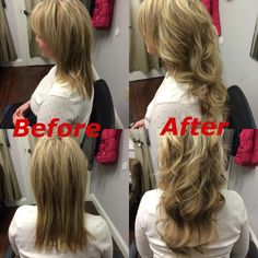 Hair extensions before and after! Dream Catchers Hair, Hair Extensions Before And After, Hair Makeup, Hair Beauty, Dreadlocks, Hair Styles, Blonde Hair Extensions, Hair Plait Styles, Party Hairstyles