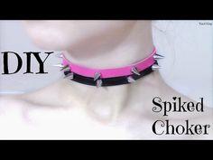 DIY Spiked Choker/Collar | Pastel Goth - YouTube