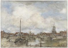 Gezicht op een stad, Jacob Maris, 1847 - 1899 (Rijksmuseum, Amsterdam)