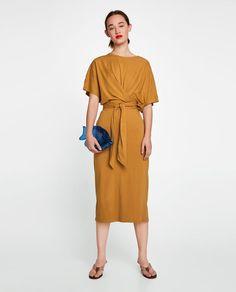 ZARA - WOMAN - LONG DRESS WITH KNOT