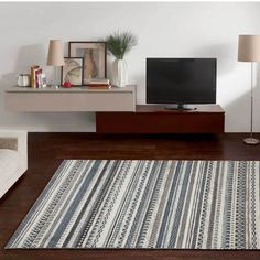 Grey Multi Rug by Theko Living Spaces, Rugs, Grey, Modern, Home Decor, Handle, Products, Brown, Blue