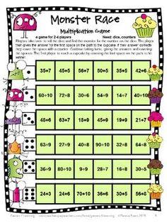 Smart image regarding printable multiplication games for 3rd grade