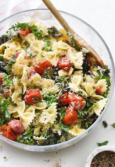 14. Kale Caesar Pasta Salad #healthy #dinner #recipes http://greatist.com/eat/healthy-weeknight-recipes