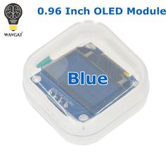 "WAVGAT cor Azul 128X64 LCD OLED Display LED Módulo Para Arduino 0.96 ""I2C CII SPI Serial novo original"