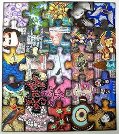 Awesome Altered Puzzle - PAPER CRAFTS, SCRAPBOOKING & ATCs (ARTIST TRADING CARDS)
