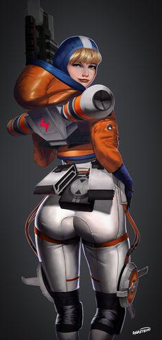 Warframe Art, Overwatch Tracer, Video Games Girls, Anime Girl Hot, Sexy Drawings, Call Of Duty Black, Cute Anime Pics, Fanarts Anime, Rainbow Art