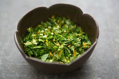 How to make gremolata, a savory condiment of parsley, garlic, and lemon zest.