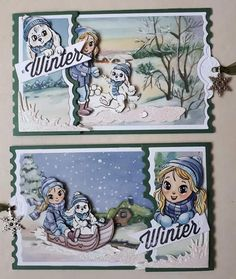Ticket Card, Christmas Cards, Christmas Decorations, Glitter Houses, Marianne Design, Winter Cards, Folded Cards, Vintage Cards, Card Making