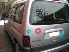 Bloemen autostickers bloemenstickers