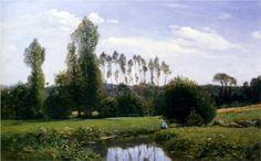 View At Rouelles Le Havre - Claude Monet (1858)