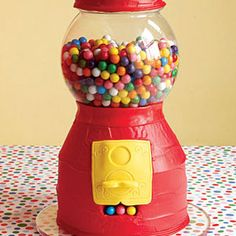 Gumball Machine Cake    This cake looks so much like an actual gumball machine, you might mistake it for the real thing!