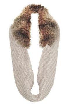 Next - Cream Faux Fur Trim Snood 877-486 £22