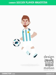 CHAR054_SoccerPlayerArgentina. Part of D&M Character Kit.