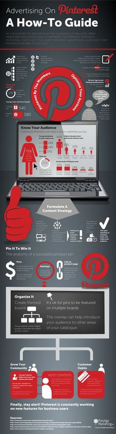 """SOCIAL MEDIA - Infographic : A How-To Guide for Advertising on Pinterest 