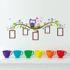 Quadro da foto da árvore vinil coruja decalques sala de estar adesivos decorativos nas paredes prateleira decoração Home Decor 010 em Papéis de parede de Casa & jardim no AliExpress.com | Alibaba Group