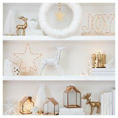 White & Metallic Shelf Décor Collection : Target