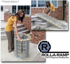 Roll-A-Ramp Portable Loading Ramp System from Discount Ramps is SUPER versatile! Can be used for wheelchair or powerchair accessibility, as well as loading motorcycles, ATVs or lawn equipment.