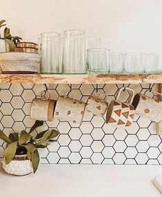 Airstream Renovation - Backsplash White Tile - Mug Love - Airstreams
