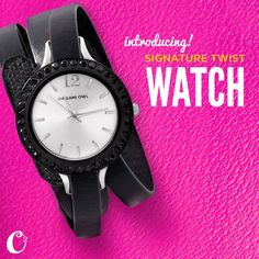#OrigamiOwl signature Twist Watch coming 8/3/15 These make great #gifts SHOP - PARTY - SELL!