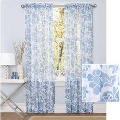 Better Homes and Gardens Flower Garden Sheer Curtain Panel - Walmart.com